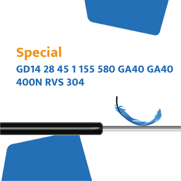 Hahn gasveer dubbel GD14-28 45 1 155 580 GA40 GA40 400N RVS 304